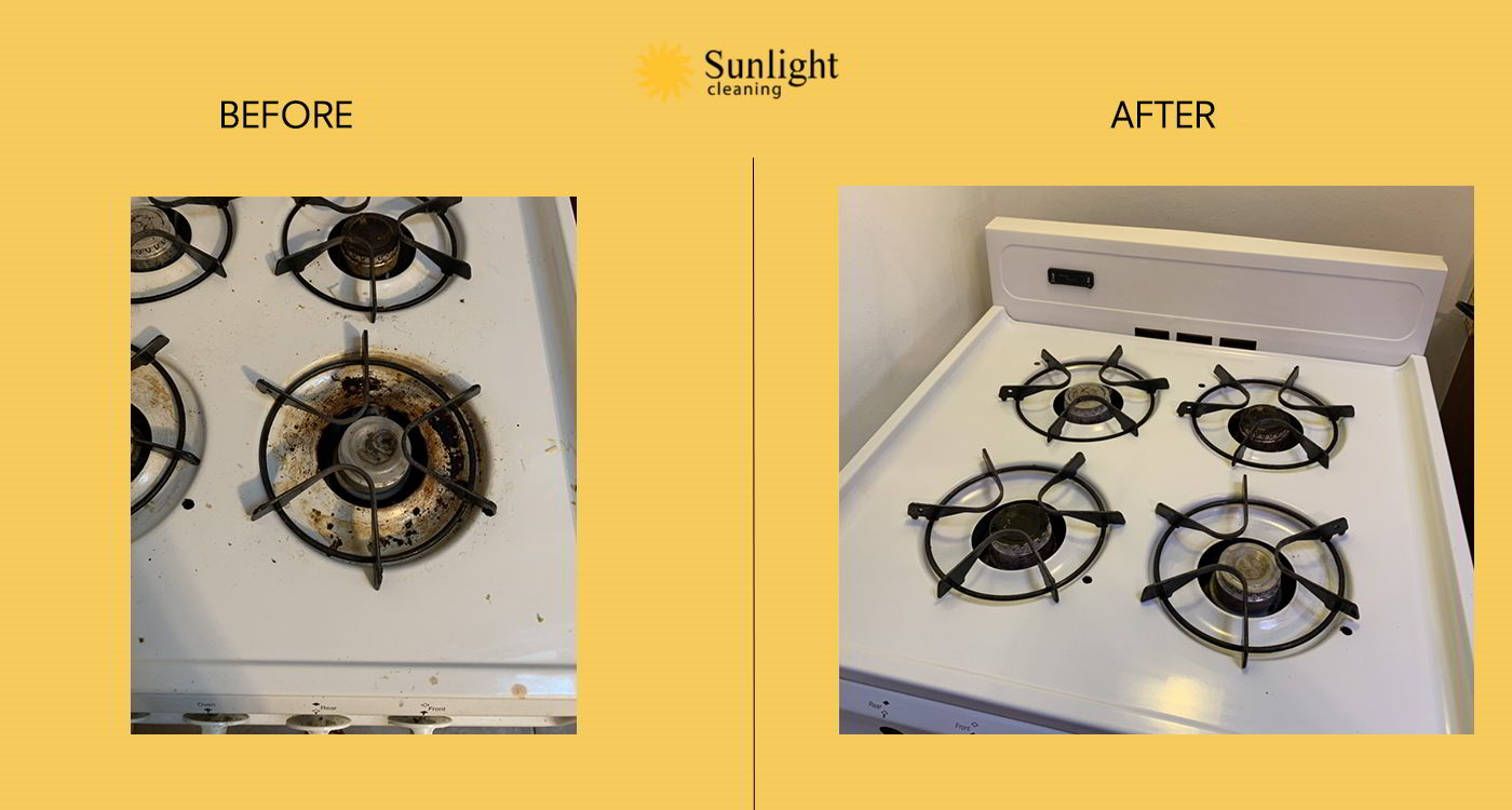 sunlight cleaning service before afterwork example series