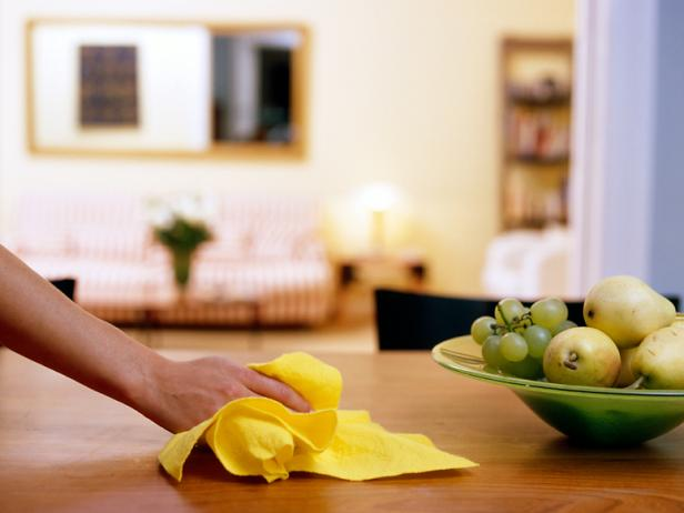 clean tables - one of 25 our post-construction cleaning tips