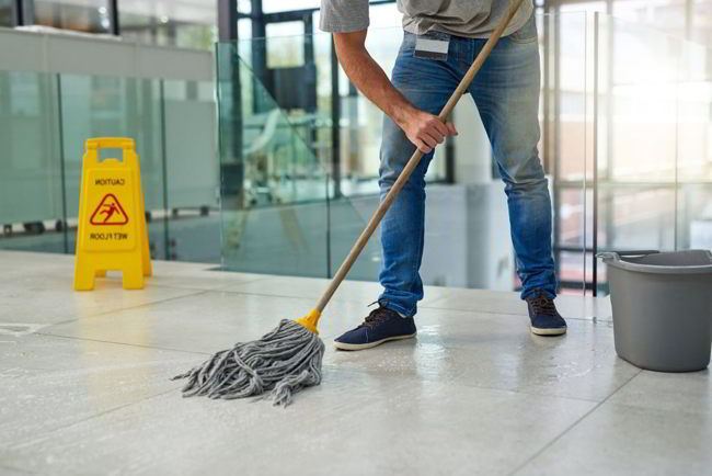Post-construction cleaning checklist:Mop hard floors