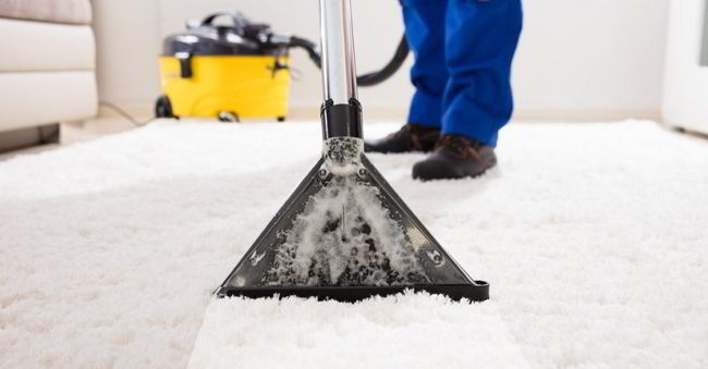 Vacuum all carpets - post-construction cleaning checklist