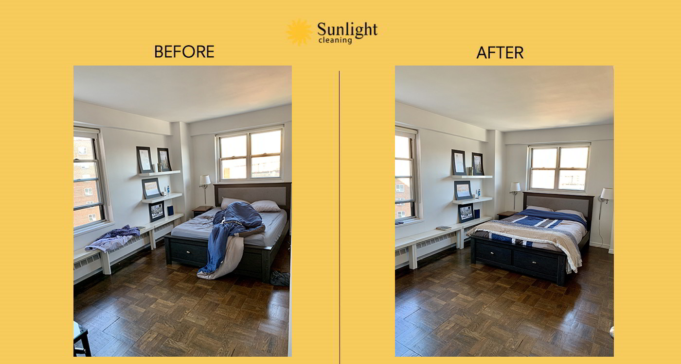sunlight cleaning before and after work #8