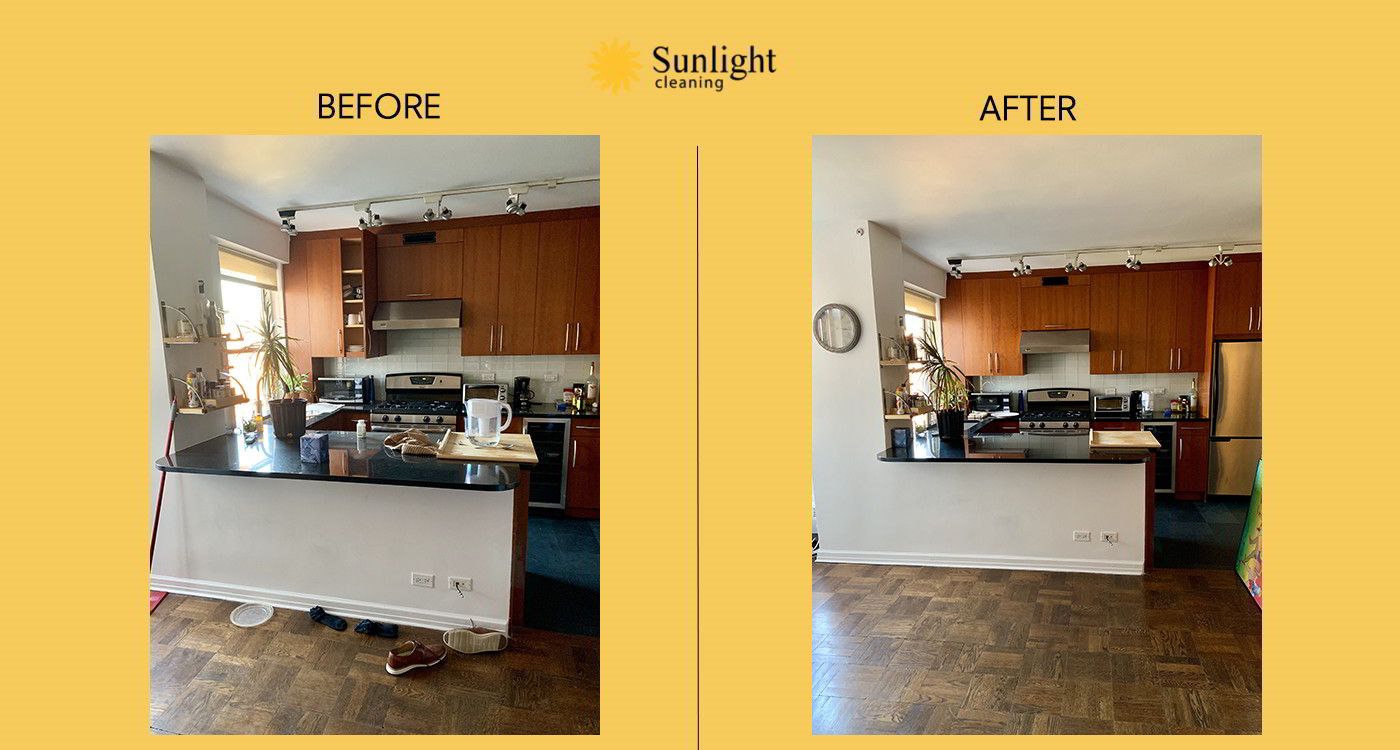 sunlight cleaning before and after work #9