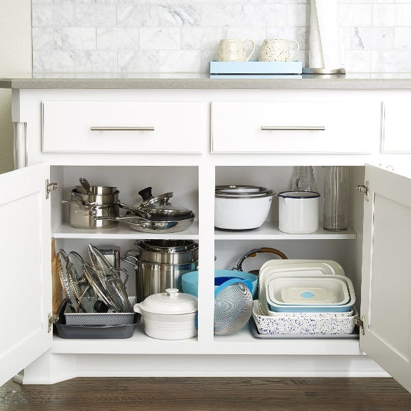 Clean and reorganize your cabinets
