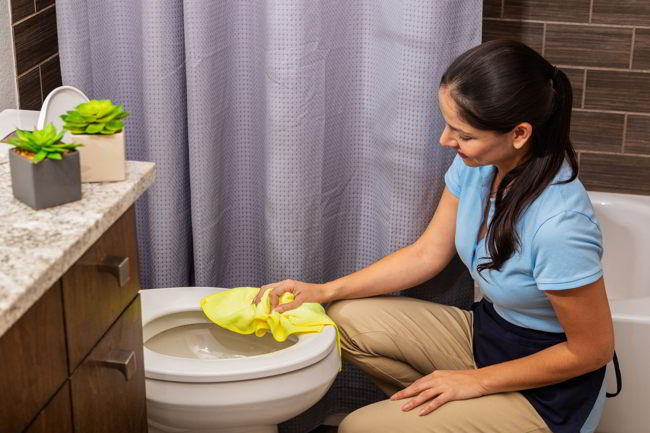 Clean the Toilets: move in cleaning checklist