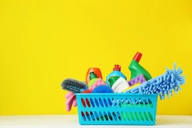 Preparation of cleaning tools and detergents - post construction cleaning